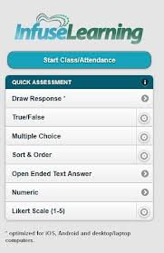 infuse learning quick assessment screen