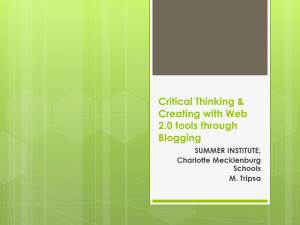 Critical Thinking & Creating with Web 2