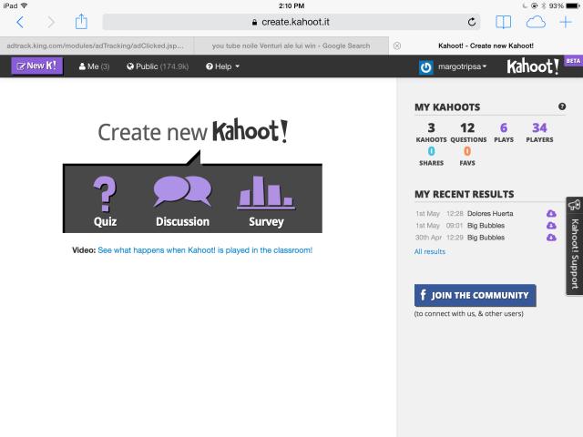 01 Kahoot create new