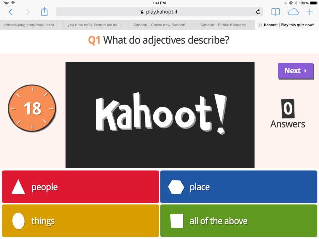 2 Kahoot question no image