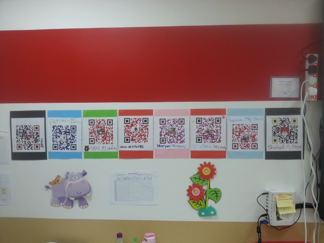 QR codes classroom
